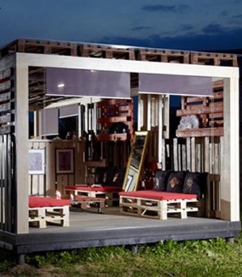 Деревянная беседка из поддонов для дачи: строительство по этапам