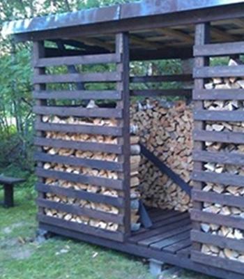 Навесы для дров: как сделать своими руками навес для хранения дров