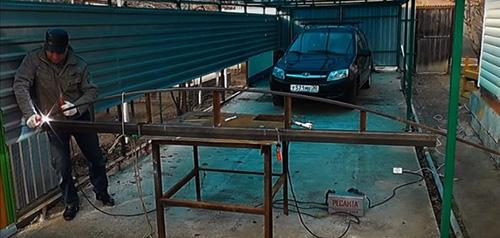 Изготовление арочной фермы с небольшим изгибом для навеса